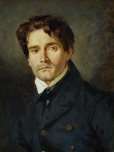 Portrait Leon Riesener by Eugene Delacroix