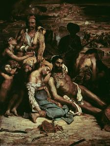 Scenes from the Massacre of Chios, 1822 by Eugene Delacroix