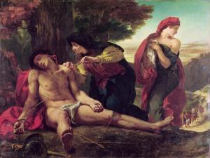 St. Sebastian, 1836 by Eugene Delacroix