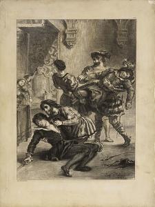 """Suite lithographique """"Hamlet"""" : la mort d'Hamlet après le duel by Eugene Delacroix"""