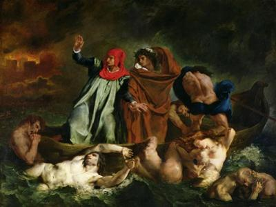 The Barque of Dante, 1822 by Eugene Delacroix