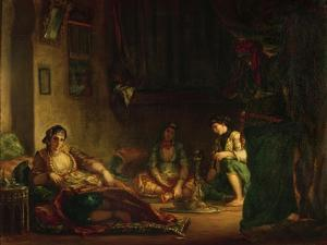 The Women of Algiers in Their Harem, 1847-49 by Eugene Delacroix