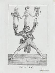 Théâtre italien :lithographie, un seul état by Eugene Delacroix