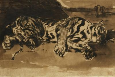 Tiger Lying Down; Tigre Couche, 1858