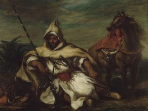 Un arabe by Eugene Delacroix