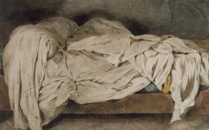 Un Lit défait by Eugene Delacroix