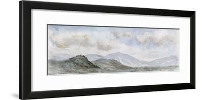 Vue panoramique d'une plaine avec des montagnes dans le lointain ; entre Brive et Souillac