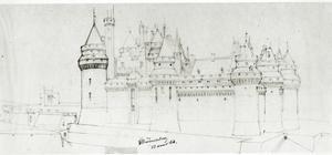 Château De Pierrefonds, 1866 by Eugene Emmanuel Viollet-le-Duc