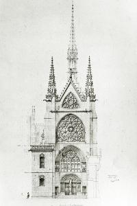 Drawing for the Restoration of the Chapel, Château De Pierrefonds, 1864 by Eugene Emmanuel Viollet-le-Duc