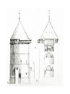 Drawing from 'Dictionnaire Raisonné De L'Architecture Française Du XIe Au XVIe Siècle', 1861 by Eugene Emmanuel Viollet-le-Duc