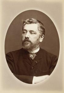 Gustave Eiffel, buste dans un ovale, bras droit sur la poitrine by Eugène Ernest Appert