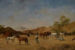 An Arabian Camp, 1873 by Eugene Fromentin