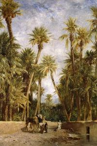 Oasis at Lagrount by Eugene Fromentin