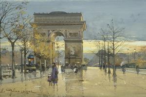 Arc De Triomphe by Eugene Galien-Laloue