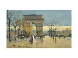 Arc de Triumphe by Eugene Galien-Laloue