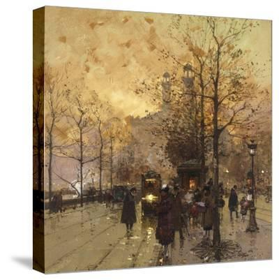 Figures on a Parisian Street by Eugene Galien-Laloue