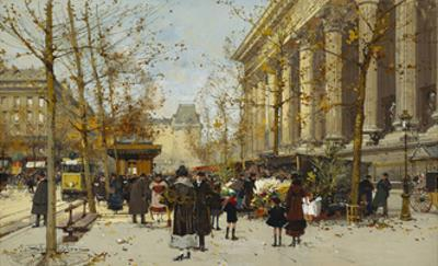 Flower Market by Eugene Galien-Laloue