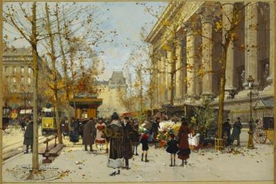Flower Walk by Eugene Galien-Laloue