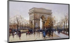 L'Arc de Triomphe, Paris by Eugene Galien-Laloue