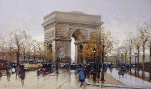 L'Arc de Triomphe, Paris by Eugene		 Galien-Laloue