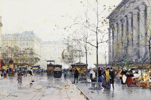 La Madeleine, Paris by Eugene Galien-Laloue