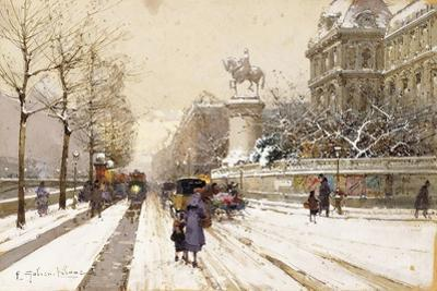 Paris in Winter by Eugene Galien-Laloue