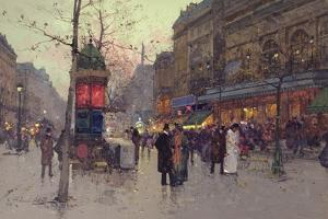 Paris Street Scene by Eugene Galien-Laloue