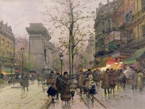 Porte St. Denis, Paris by Eugene Galien-Laloue