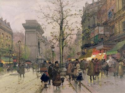 Porte St. Denis, Paris by Eugene Galien-Laloue