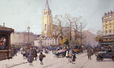 St. Germaine de Pres by Eugene Galien-Laloue