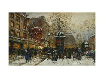 L'Arc de Triomphe, Paris-Eugene Galien-Laloue-Mounted Premium Giclee Print