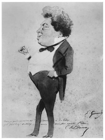 Caricature of Alexandre Dumas, Fils