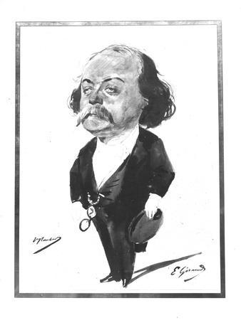 Caricature of Gustave Flaubert, 1867