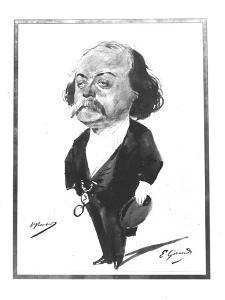 Caricature of Gustave Flaubert, 1867 by Eugene Giraud