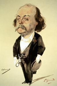 Gustave Flaubert by Eugene Giraud