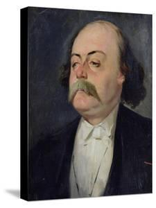 Portrait of Gustave Flaubert (1821-80) 1868-81 by Eugene Giraud