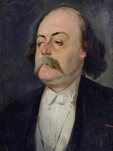 Portrait of Gustave Flaubert (1821-80) 1868-81 by Eugene Giraud