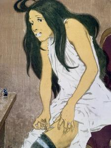 A Drug Addict Injecting Herself, Early 20th Century by Eugene Grasset