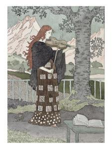 A Musician by Eugene Grasset