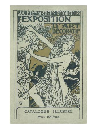 Catalogue Cover for the 1st Exhibition of Decorative Art in Paris, January 1901