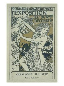 Catalogue Cover for the 1st Exhibition of Decorative Art in Paris, January 1901 by Eugene Grasset