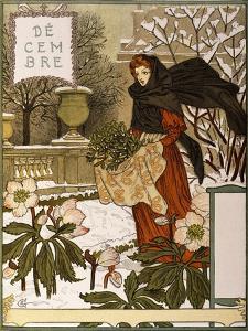December, Illustration from the Fine Art Portofolio 'Le Mois', 1896 by Eugene Grasset
