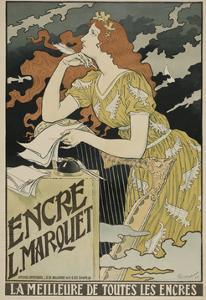 Encre L. Marquet, 1892 by Eugene Grasset