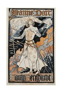 Jeanne D'Arc - Sarah Bernhardt Theater Poster by Eugene Grasset