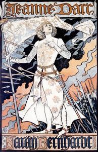 Jeanne d'Arc, Sarah Bernhardt by Eugene Grasset