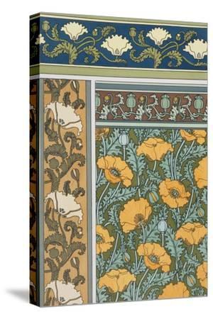 Poppies Wallpaper, Chromo-Lithograph, London, England, 1897