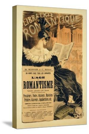 Reproduction of a Poster Advertising a Book Entitled The Romantic Age, 1887