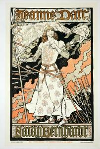 """Reproduction of a Poster Advertising """"Joan of Arc"""" by Eugene Grasset"""