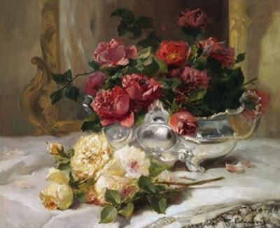 Roses on a Dressing Table by Eugene Henri Cauchois