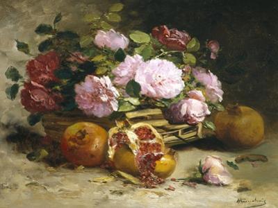 Still Life of Roses and Pomegranates